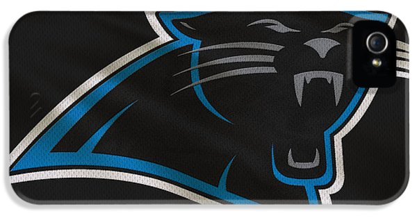 Panther iPhone 5 Case - Carolina Panthers Uniform by Joe Hamilton