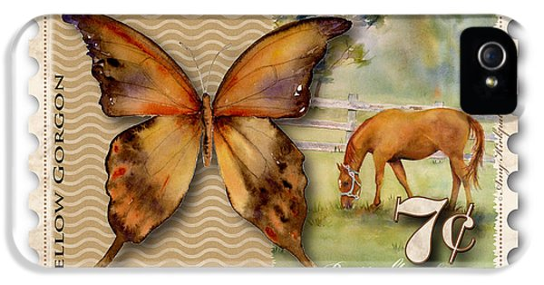 7 Cent Butterfly Stamp IPhone 5 Case by Amy Kirkpatrick