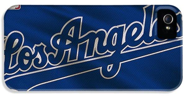 Los Angeles Dodgers iPhone 5 Case - Los Angeles Dodgers Uniform by Joe Hamilton