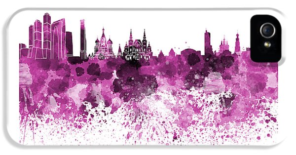 Moscow Skyline White Background IPhone 5 / 5s Case by Pablo Romero