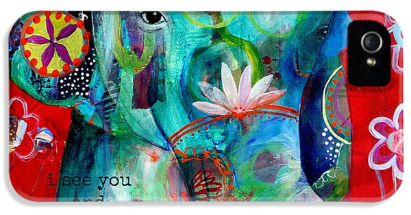 Animal iPhone 5 Case - I See You  by Tracy Verdugo