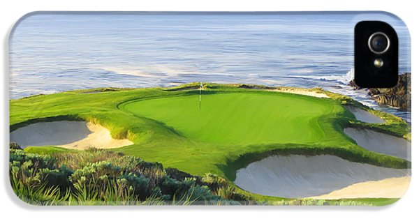 Golf iPhone 5 Case - 7th Hole At Pebble Beach by Tim Gilliland