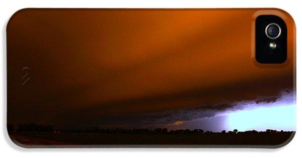Nebraskasc iPhone 5 Case - Late Night Nebraska Shelf Cloud by NebraskaSC