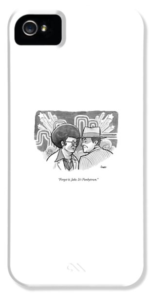 Jack Nicholson iPhone 5 Case - A 70's Disco Man Speaks To Jack Nicholson's by Benjamin Schwartz