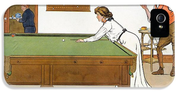 A Billiards Match IPhone 5 Case by Lance Thackeray