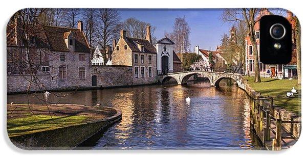 Blue Bruges IPhone 5 Case by Carol Japp