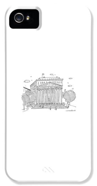 Washington D.c iPhone 5 Case - A Building In Washington Dc Is Shown by Michael Crawford