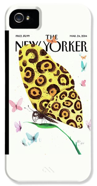 A Butterfly With A Cheetah Pattern Rests IPhone 5 Case