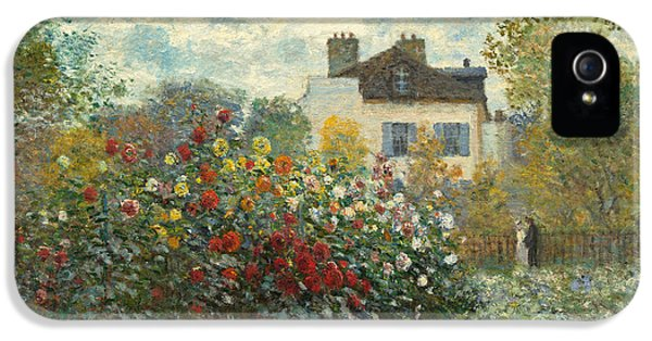 A Corner Of The Garden With Dahlias IPhone 5 Case by Claude Monet
