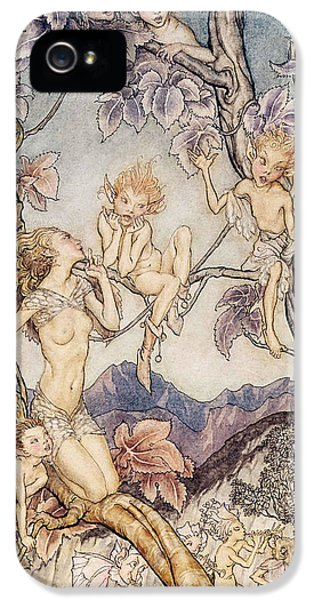 A Fairy Song From A Midsummer Nights Dream IPhone 5 Case by Arthur Rackham