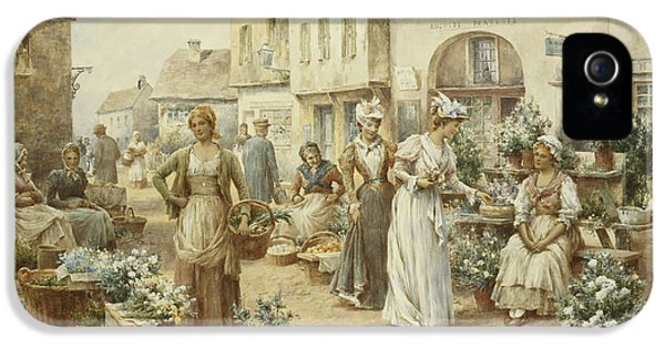 A Flower Market IPhone 5 Case by Alfred Glendening Junior