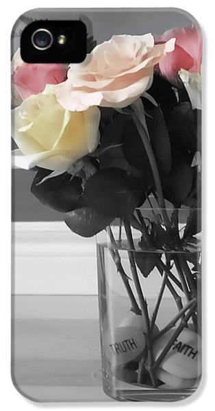 Rose iPhone 5 Case - A Foundation Of Love by Cathy Beharriell