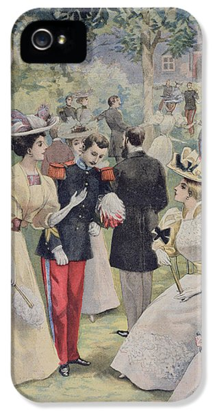A Garden Party At The Elysee IPhone 5 Case by Fortune Louis Meaulle