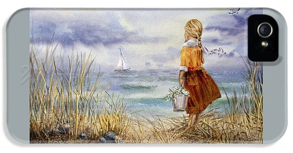 A Girl And The Ocean IPhone 5 Case