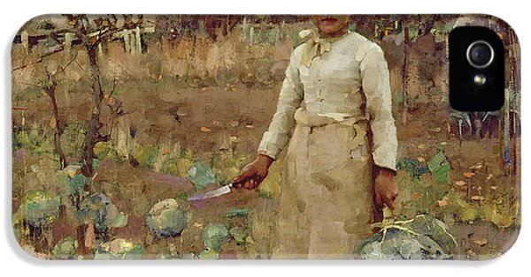 A Hinds Daughter, 1883 Oil On Canvas IPhone 5 Case by Sir James Guthrie