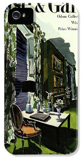 A House And Garden Cover Of A Living Room IPhone 5 Case by Tom Martin