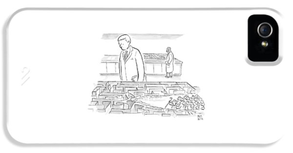 A Laboratory Scientist Looks On As The Walls IPhone 5 Case by Paul Noth