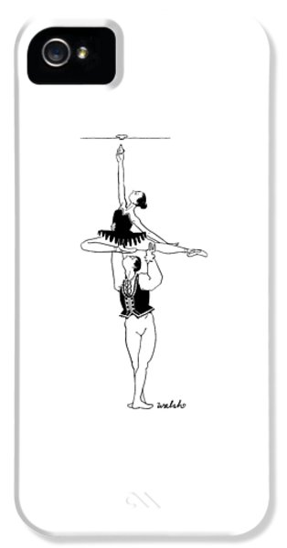 A Male Ballet Dancer Lifts A Ballerina IPhone 5 Case by Liam Walsh