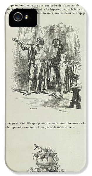 Gil iPhone 5 Case - A Man Getting Dressed by British Library