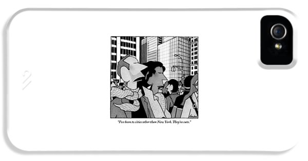 A Man Speaks To His Wife In The Midst Of New York IPhone 5 Case
