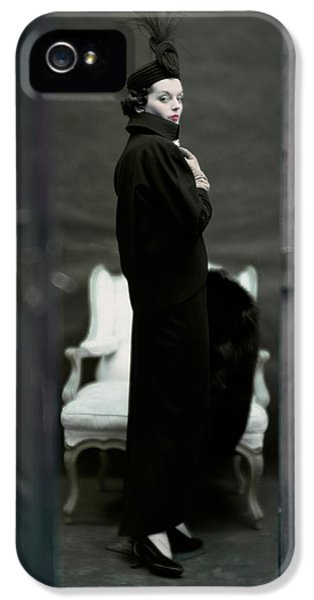 A Model Wearing An Adele Simpsons Ensemble IPhone 5 Case by John Rawlings