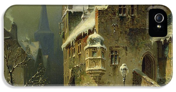 Town iPhone 5 Case - A Small Town In The Rhine by August Schlieker