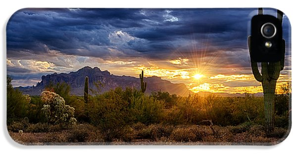 A Sonoran Desert Sunrise IPhone 5 Case