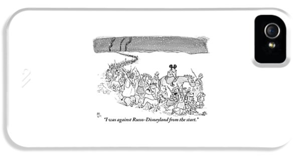 A Trail Of People And Disney Characters March IPhone 5 Case by Paul Noth