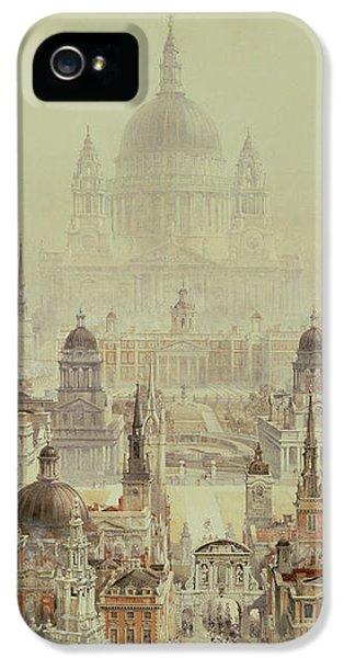 Wren iPhone 5 Case - A Tribute To Sir Christopher Wren by Charles Robert Cockerell
