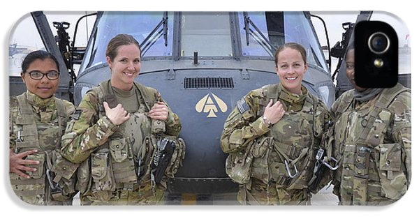 Helicopter iPhone 5 Case - A U.s. Army All Female Crew by Stocktrek Images