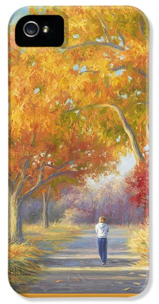 A Walk In The Fall IPhone 5 Case by Lucie Bilodeau