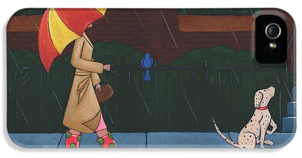 A Walk On A Rainy Day IPhone 5 Case by Christy Beckwith