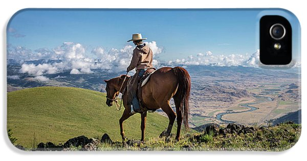 A Woman Rides The Range IPhone 5 Case