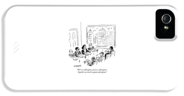 A Woman Speaks Across The Table At A Full Board IPhone 5 Case by David Sipress