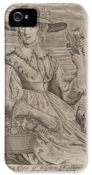 A Woman With Flowers IPhone 5 Case