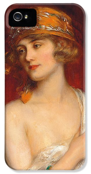 A Young Beauty IPhone 5 Case by Albert Lynch
