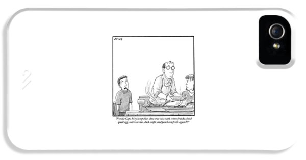 A Young Boy Complains About What's For Dinner IPhone 5 Case