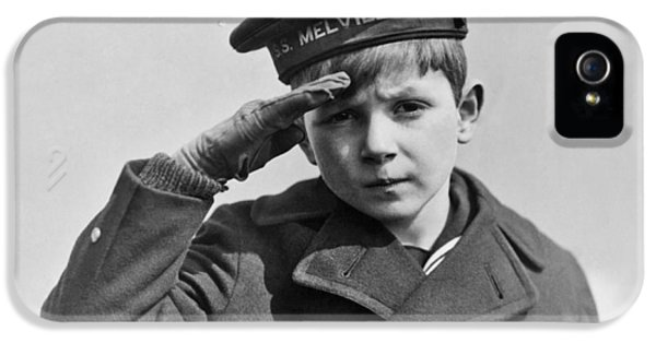 A Young Boy Saluting IPhone 5 Case