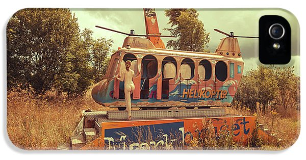 Helicopter iPhone 5 Case - Abandoned Helicopter by Abandon.dk