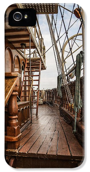 Aboard The Tall Ship Peacemaker IPhone 5 Case by Dale Kincaid