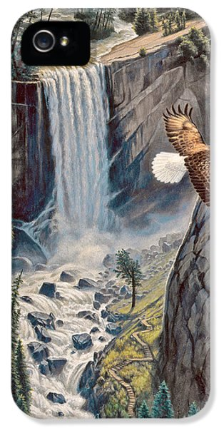 Above The Falls - Vernal Falls IPhone 5 Case by Paul Krapf