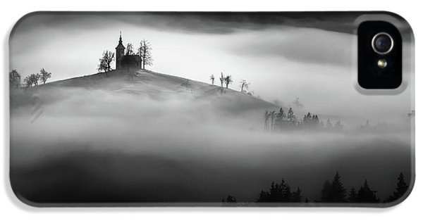 Chapel iPhone 5 Case - Above The Mist by Sandi Bertoncelj