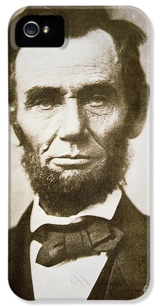 Portraits iPhone 5 Case - Abraham Lincoln by Alexander Gardner