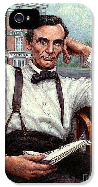 Abraham Lincoln Of Springfield Bicentennial Portrait IPhone 5 Case by Jane Bucci