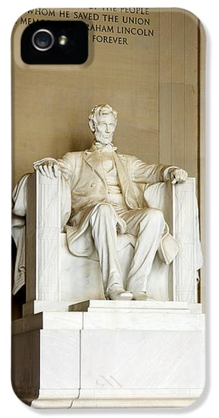 Abraham Lincolns Statue In A Memorial IPhone 5 Case by Panoramic Images