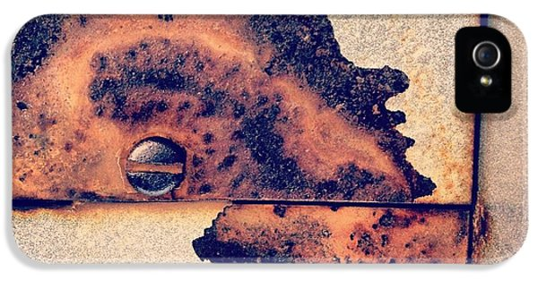 Orange iPhone 5 Case - Absract Rust by Christy Beckwith
