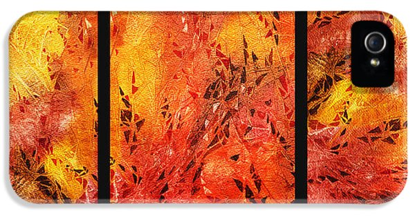 Abstract Fireplace IPhone 5 Case