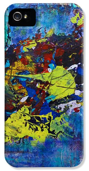 IPhone 5 Case featuring the painting Abstract Fish  by Claire Bull