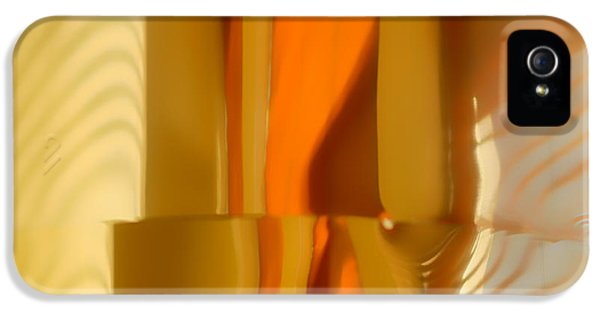 Abstract In Brass - 4 - Historic Library Building - Omaha Nebr IPhone 5 Case by Nikolyn McDonald
