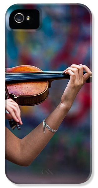 Violin iPhone 5 Case - Abstracts From Vivaldi - Featured 3 by Alexander Senin